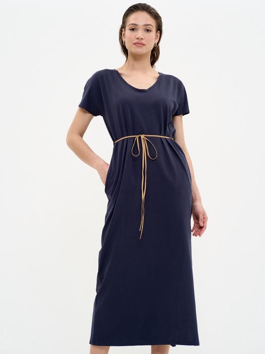 Длинное платье со шнурком на талии RECELLA 403