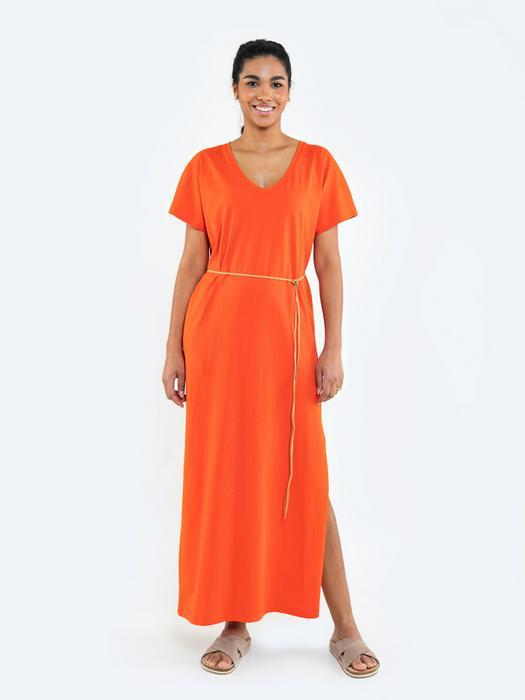 Длинное платье со шнурком на талии RECELLA 603