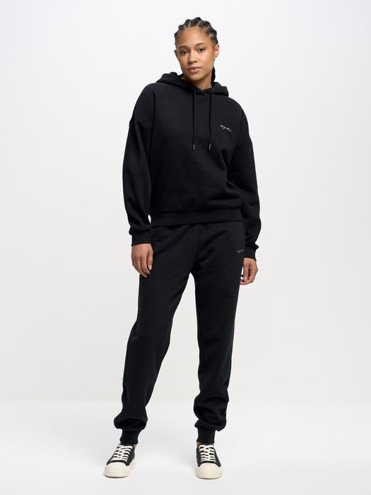 Чёрные спортивные штаны FOXIE SWEATPANTS 906
