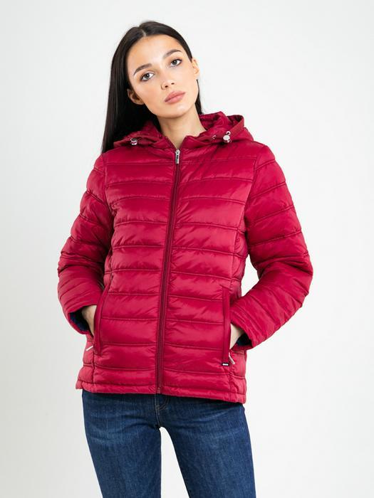 Cтеганая куртка с капюшоном AZEALA 604