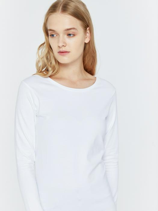 Белый классический джемпер GIRL T/S L/S 110