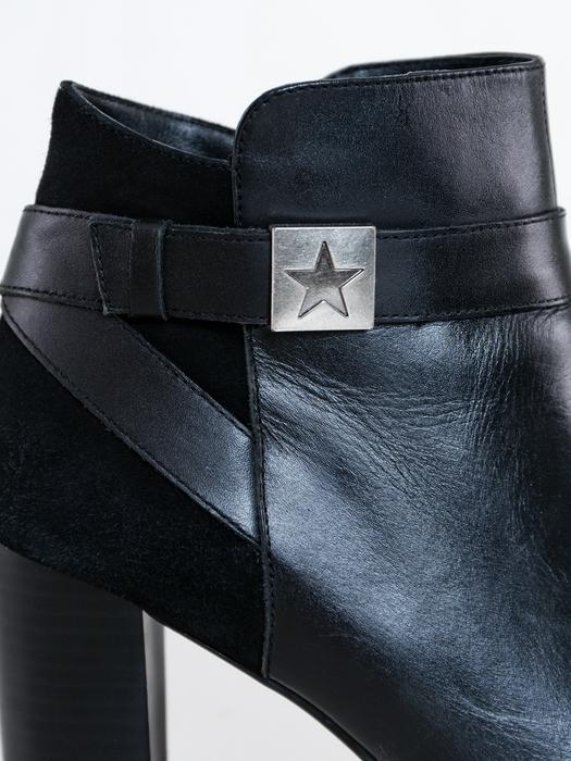 Ботинки на каблуке из натуральной кожи GG274884 906