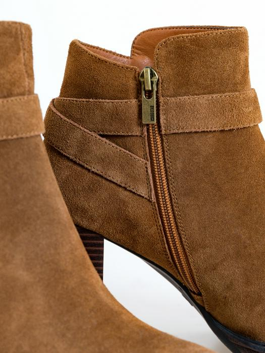 Замшевые ботинки на каблуке GG274885 802