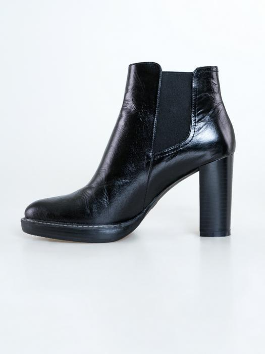 Кожаные ботинки на каблуке GG274909 906
