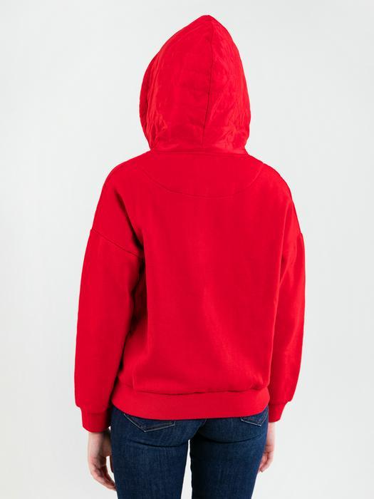 Красная толстовка с капюшоном на замке LAURISA 901