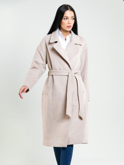 Двубортное пальто с поясом MELODY 801