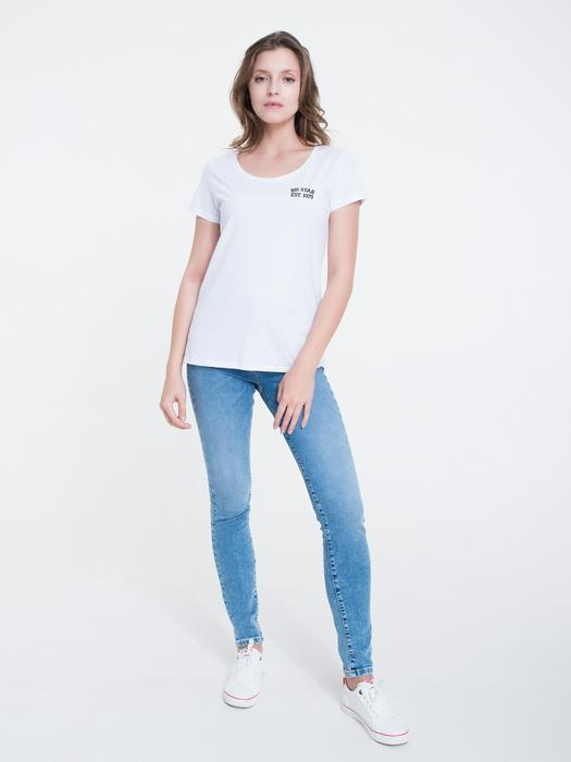 Белая футболка с круглым вырезом MILANI 110