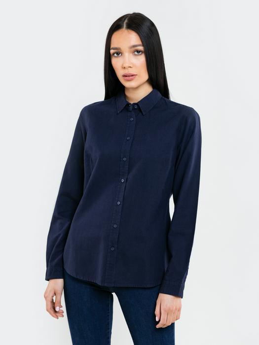 Классическая синяя рубашка PERLANA 403