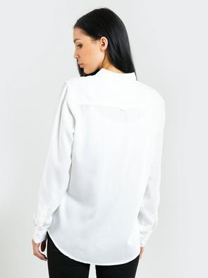 Белая женская рубашка с длинными рукавами  PERLE 102