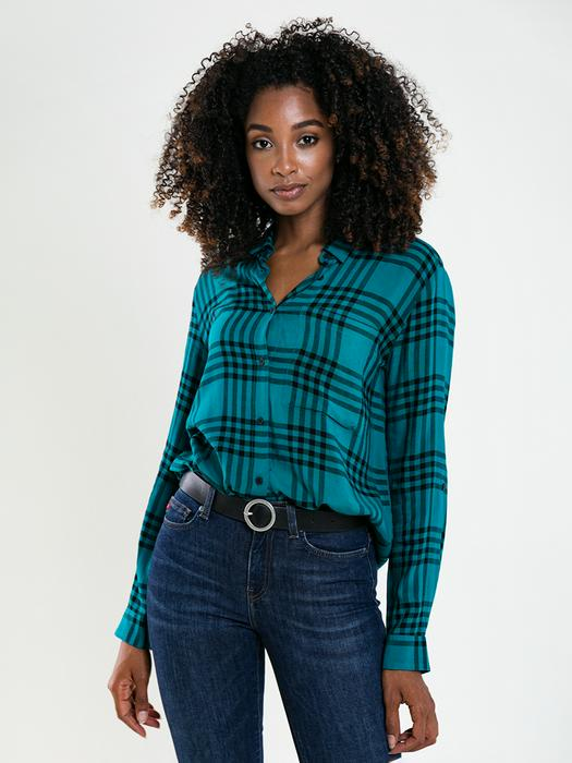Женская рубашка в клетку SALINANA 302