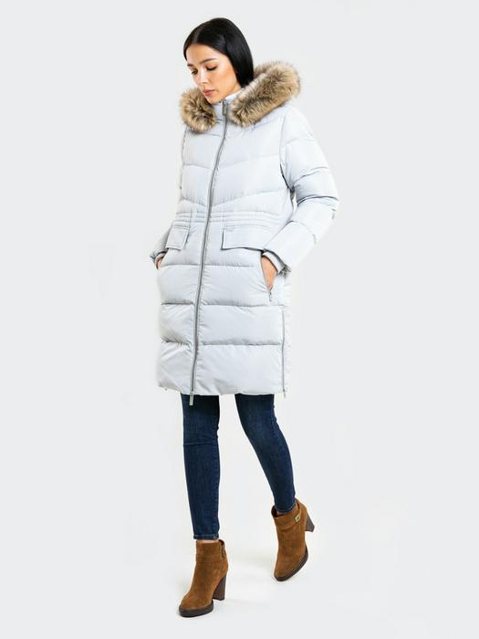 Пальто с капюшоном VIRGINIE 901