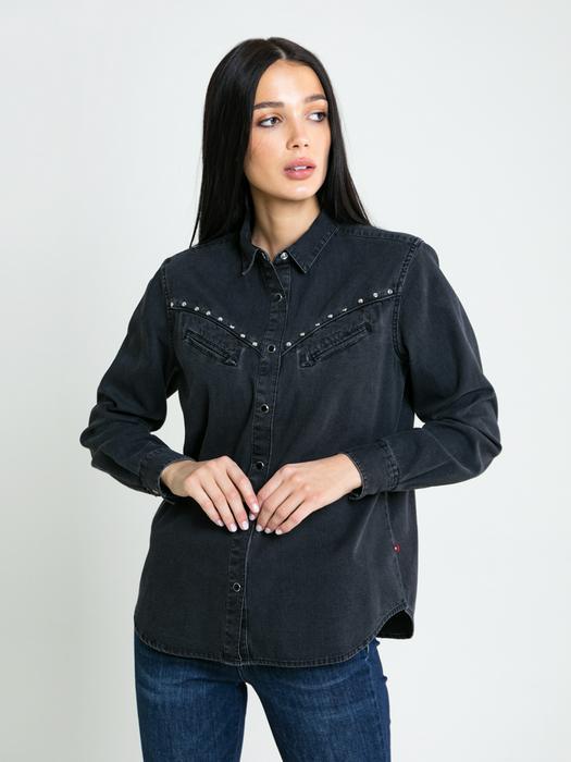 Джинсовая рубашка на кнопках WESTINA 900